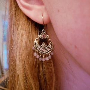 purple diamond dangle earrings
